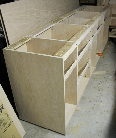 Wood cabinet carcass plans pdf plans for Basic kitchen base units